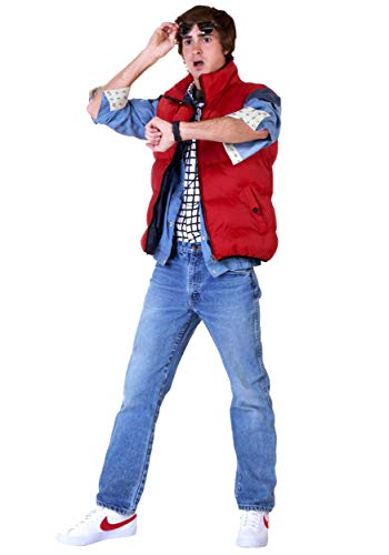 Back Future To Kostüm - Back to The Future Marty McFly Fancy Dress Costume X-Small