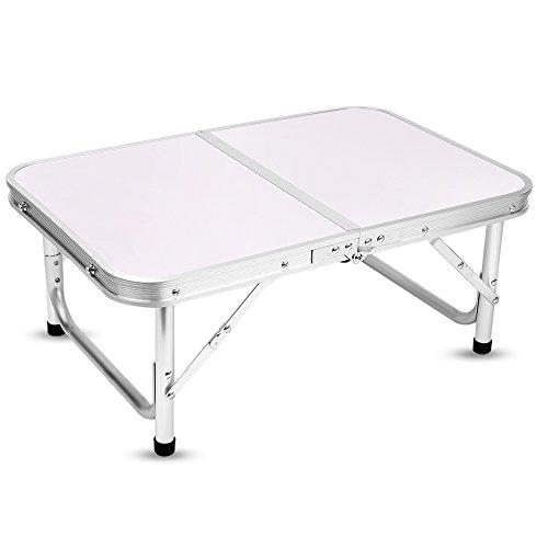 Yinmake Mini Aluminium faltbar Camping Tisch Laptop Bett Schreibtisch höhenverstellbar 60x 40,5x 24/41, 5cm