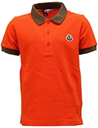 MONCLER 4190T Polo Bimbo Maglia Arancione t-Shirt Polo Kid 29be69f7448