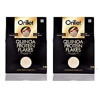 ORILLET Quinoa Protien Flakes | Nutritious | Healthy & Tasty | Multigrain | Snack Pack | Cereal | Muesli | 250g | (Pack of 2)