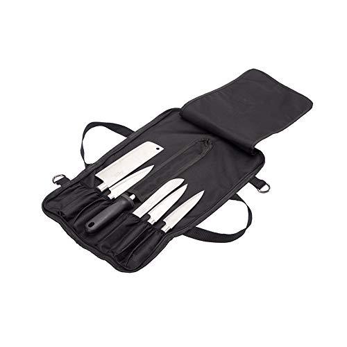 Hnyg Knife roll bag (10slot) per 10coltelli, con taschino, e 3ciotoline. Il nostro durevole coltello vettore con tracolla e tasca porta cartellino, coltelli non inclusi) B817