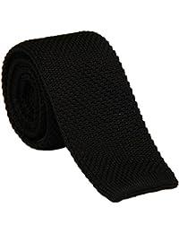 Penagy Classique Cravate Maille Tricot Soirée Businesse Mariage Cérémonie Déco Fête Costume Necktie pour Complet 145CM Multicolor Optique