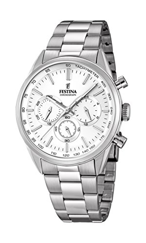 Festina Herren-Armbanduhr Chronograph Quarz Edelstahl F16820/1