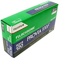 Fujifilm P10GRP0323A 100F 120 Fujichrome Provia Film - Pack of 5-Green/White