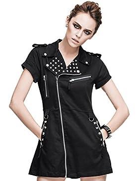 Devil Fashion -  Vestito  - linea ad a - Maniche corte  - Donna