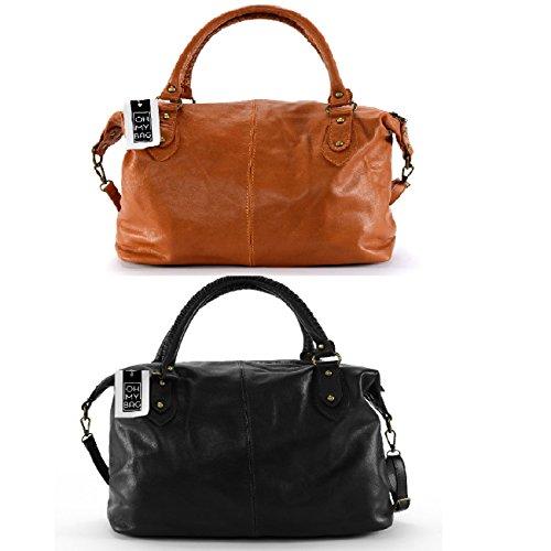 OH MY BAG Sac à Main femme cuir porté main, épaule et bandoulière Modèle Belucci Nouvelle collection - SOLDES