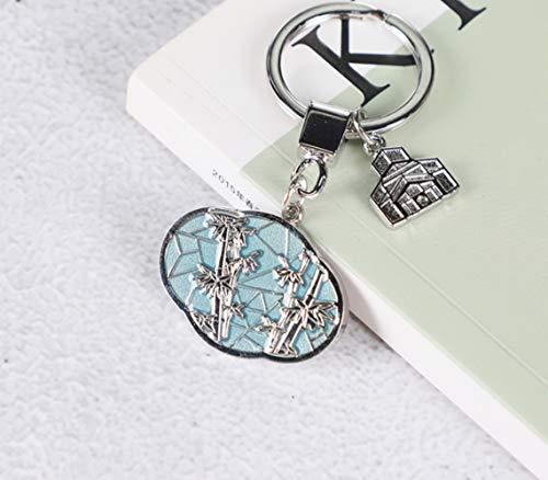 XHFU Schlüsselanhänger Schlüsselanhänger architektonischen Schlüsselbund hängenden Ring, Sea Bream Window, personalisierte Geschenk