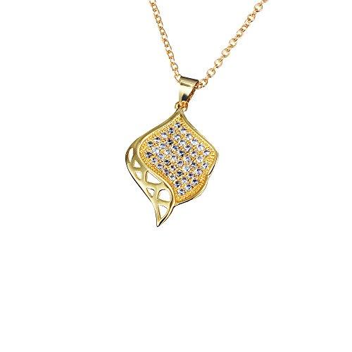 GESCHENKE für Frauen 18K vergoldet Halskette Zirkonia Exquisite Anhänger Halskette für Mädchen (Personalisierte Adressbuch)