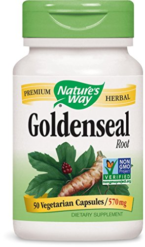 Nature's Way Goldenseal Root 570 mg 50 Capsules Test