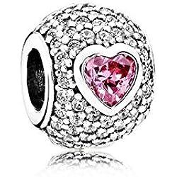 Abalorio Charm Pandora 791815CZS Mujer plata Redondo Circonitas