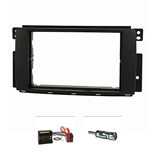 2-din auto radio//autoradio cadre//Kit de montage pour smart forfour 454-2004-2006