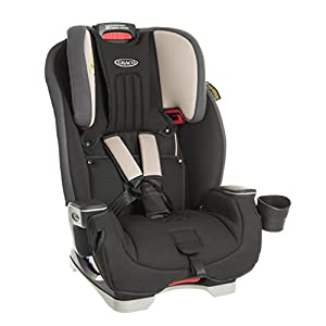 Graco Milestone All-in-One Car Seat, Group 0+/1/2/3, Aluminium Cybex Sturdy and high-quality child car seat for long-term use - For children aged approx. 9 months to approx. 12 years (9-36 kg), Suitable for cars with and without ISOFIX Maximum safety - Depth-adjustable impact shield, 3-way adjustable reclining headrest, Built-in side impact protection (L.S.P. System), Energy-absorbing shell 12-way height-adjustable comfort headrest, One-hand adjustable reclining position, Easy conversion to Solution M-Fix car seat for children from 3 years (group 2/3) by removing impact shield and base 7