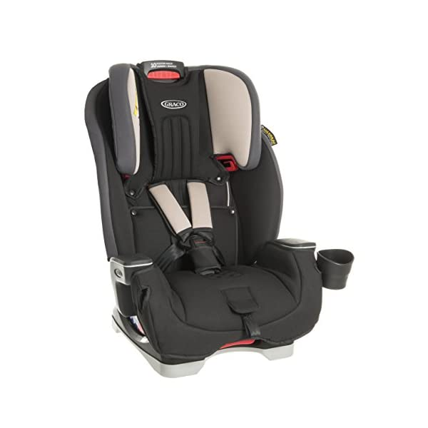 Graco Milestone All-in-One Car Seat, Group 0+/1/2/3, Aluminium Graco Group 0+/1/2/3 can be used for kids from birth up to 12 years of age Easily converts to and from the three riding modes The headrest can be adjusted easily with one hand to grow with your child 1