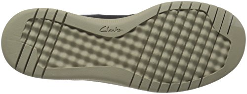 Clarks Mens Votta Free Slip-On Loafer Navy Synthetic/Taupe