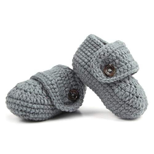 LouiseEvel215 1 para Nette Bequeme Kleinkinder Kleinkinder Baby Weiche Häkeln Stricken Krippe Schuhe Spaziergang Socken Top Qualität (Kleinkind Schuhe Häkeln)