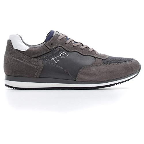 Nero giardini uomo sneaker a800592u grigio scarpa in camoscio autunno inverno 2019 eu 41