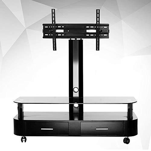 XUE Rolling TV Stand mobiler Universal TV Cart, für LCD LED Plasma Flachbildschirm Trolley Bodenständer mit Feststellrädern, passend für 81,3 cm bis 165,7 cm Höhe, um 360 Grad drehbar -