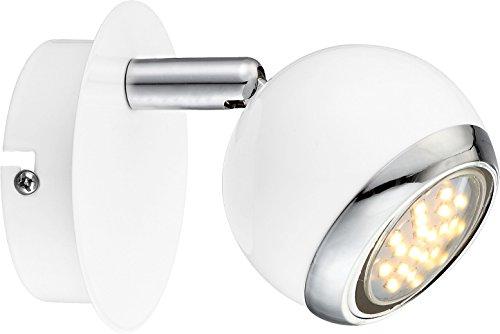 Globo - Faretto in metallo, bianco, con