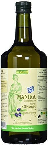 Rapunzel Olivenöl MANIRA, nativ extra, 1er Pack (1l) - Bio