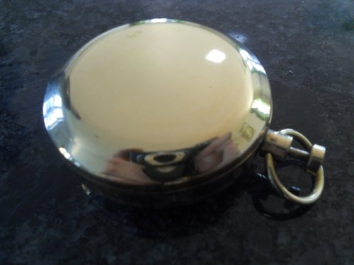 Push Button Brass Pocket Compass by casanova nauticals