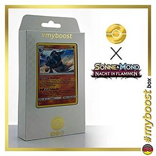 Rihornior 67/147 Holo - #myboost X Sonne & Mond 3 Nacht in Flammen - Box mit 10 Deutsche Pokémon-Karten