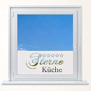 DD Dotzler Design 6416-17 individuelle Sichtschutzfolie Fensterfolie Vogelschutz Milchglas 5 Sterne Küche
