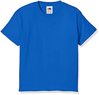Fruit of the Loom Girls' T-Shirt blue royal blue Size:104 (EU)