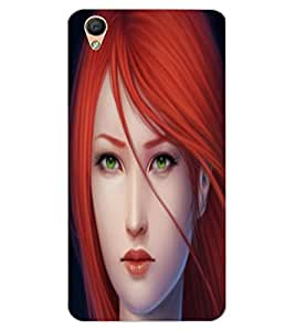 ColourCraft Beautiful Lady Design Back Case Cover for OPPO R9