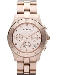 Marc Jacobs MBM3102 - Reloj de cuarzo para mujer, correa de acero inoxidable color oro rosa