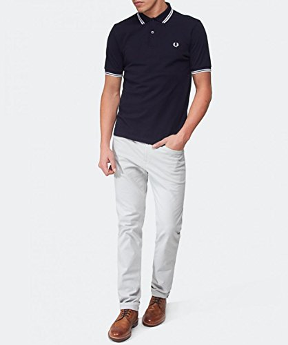 Fred Perry Herren Poloshirt Marine & Weiß
