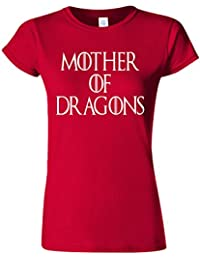 Mother of Dragons Maternity Twin Novelty White Femme Women Top T-Shirt