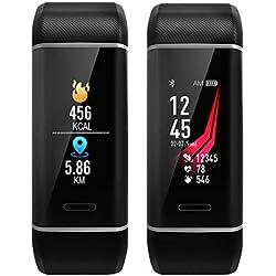 Pulsera Inteligente Deportiva, AURSEN Fitness Tracker con 22 Modos de Deporte, GPS Tracker, Calorías, Monitor de Sueño, Podómetro, Monitor de Ritmo Cardíaco.ect