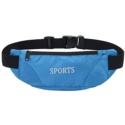 XZDCDJ UmhängeTaschen Damen Frauen Sport Handy ultradünne einreihige reißverschluss wasserdichte Taschen Himmel blau - Blau Crinkle-band