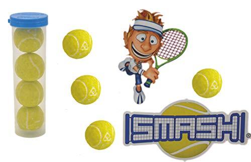 jameitop® XL Tennisball KAUGUMMI 8er Pack Tennis Bälle saurer Lime Geschmack im Köcher