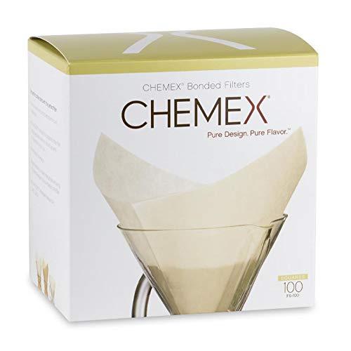 Chemex Papier-Filter FS-100, quadratische Filter für die 6, 8 und 10 Tassen-Karaffe, 100 Stück thumbnail
