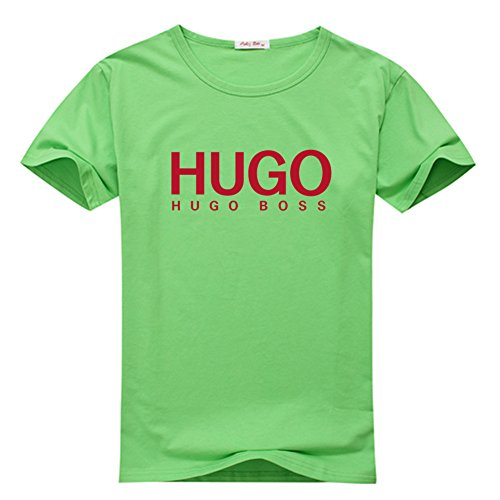 Margaretlowe New Hugo Boss Men's Short Sleeve T-Shirt Green