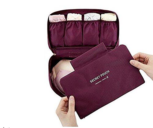Portable multifunktionale Travel Organizer Kosmetik Make-up Tasche Gepäck Lagerung Fall Bh Unterwäsche Tasche Rot