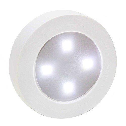 Cdycam Hohe Helligkeit batteriebetrieben touch-activated LED Licht Lampe Stick auf Schrank Schrank mit 3M Pad für Auto Home Kitchen, weiß, White light