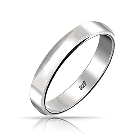.925 Sterling Silver Wedding Band Thumb Toe Ring 4mm