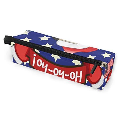 Sonnenbrille Fall Stift Federmäppchen Weihnachten niedlichen Tier Cartoon Mops Hund Schreibwaren Beutel Aufbewahrungsbox Kosmetiktaschen Brillen Tasche mit Aufhängeöse
