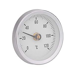 VBESTLIFE 63mm Wasserdichte Thermomete,staubdichte IP55 0-120 ° Bimetall Temperatur Frühlingsthermometer Rohr Oberfläche,geeignet für Rohre, Oberflächen, Öl, Kraftwerke, Marine usw.
