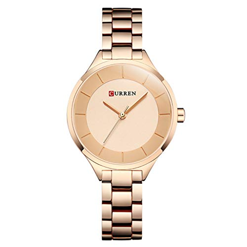 TWISFER Damenuhr - Analoge Uhr für Frauen - wasserdichte Armbanduhr - Mädchenuhr mit Edelstahl-Bändern