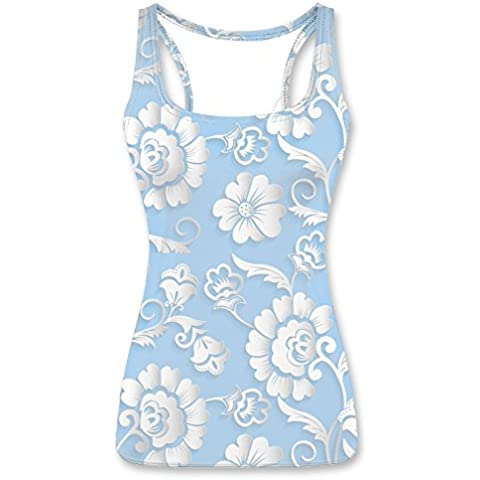 Seamless Floral Abstract Pattern Printed Tank Tops Vests