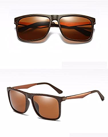 Sunglasses new men's aluminum-magnesium high-definition coated polarized glasses,Brown,Tea tablets
