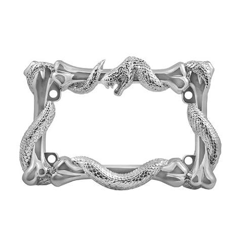 3D Snake w/ Bones Motorcycle Bike Chrome License Plate Frame