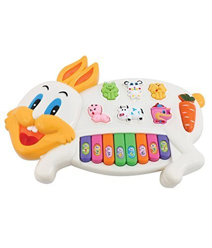 Samaira Toys Rabbits Musical Piano With 3 Modes Animal Sounds, Flashing Lights & Wonderful Music