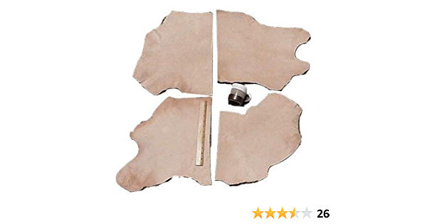Healifty Cowhide Leather Strip Unfinished Leather Belt for DIY Crafts Waistband Making Emboss Stamp Supplies 1.8CM Width