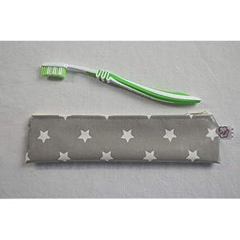 Zahnbürsten-Tasche Sterne auf Grau