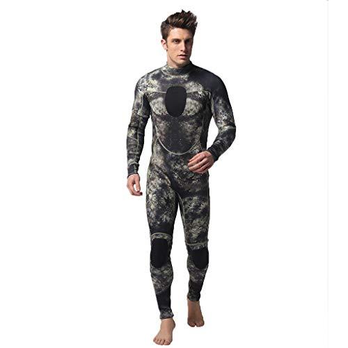 LOPILY Herren Mode Neoprenanzug Surfbekleidung 3MM Ganzkörperanzug Schwimmanzug Tauchanzug Schwimmen Surfen Tauchen Sport Badeanzug Wetsuit Schnelltrocknend(Camouflage,XL)