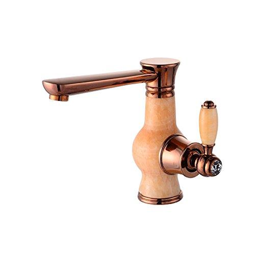 DYF Neue rosa Marmor alte Ente Modellierung Einloch Waschbecken Wasserhahn System-modellierung